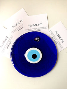 Handmade Blue Evil Eye Bead Home Decor, 26cm - Evileyefavor