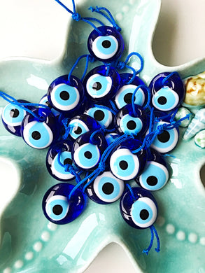50 pcs Unique wedding favor - Turkish evil eye bead - 3.5cm - nazar boncuk - Evileyefavor