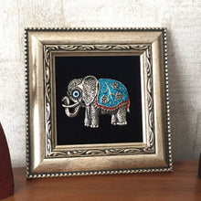 Blue Elephant Evil Eye Framed Home Decor - Evileyefavor