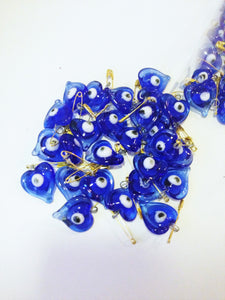 SALE 50 pcs Glass wedding favors evil eye -unique wedding favors - tiny evil eye safety pins - wedding favor - evil eye bead - nazar boncuk - Evileyefavor