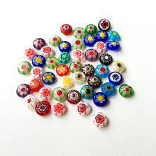 Mixed color evil eye 8mm 10mm - flat glass beads - evil eye set of 35-45 beads - Flat evil eye - Greek evil eye - diy jewelry supplies - Evileyefavor
