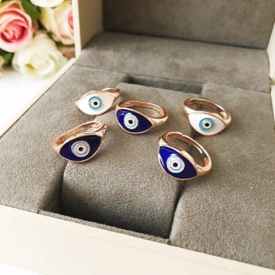 Oval Evil Eye Ring - Evileyefavor