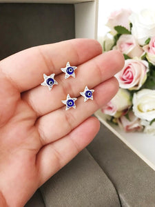 Evil Eye Star Earrings - Evileyefavor