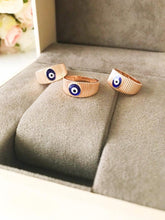 Rose Gold Evil Eye Ring - Evileyefavor