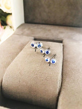 Silver Evil Eye Stud Earrings - Evileyefavor