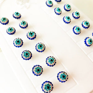 Zirconia Evil Eye Earrings - Evileyefavor