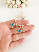 Greek Evil Eye Charm Ring - Evileyefavor