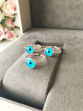 Rose Gold Blue Evil Eye Ring - Evileyefavor
