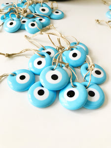 Greek turquoise evil eye wedding favors - Evileyefavor