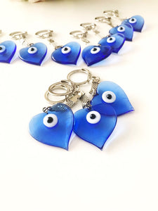Lucky evil eye Greek keychain - Evileyefavor
