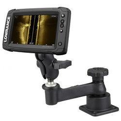 RAM-109H-2B-B-LO11 RAM Horizontal Swing Arm Mount for Lowrance Elite-5 Series-image-1