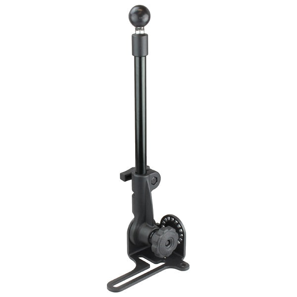 "RAM No-Drill™ RAM POD HD™ Vehicle Base with 12"" Aluminum Rod and C Size 1.5"" Ball (RAM-316-HD-NABU)"