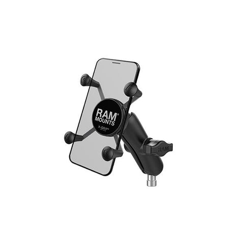 RAM® X-Grip® Phone Mount with Motorcycle Handlebar Clamp Base (RAM-B-367-UN7U)