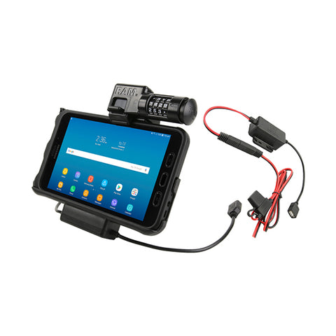 RAM® Locking Power & Data Cradle for Samsung Tab Active2 (RAM-HOL-SAM7PCL2-HARU)