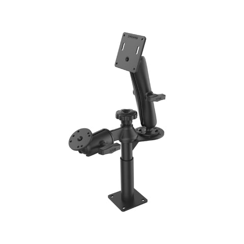 "RAM-VP-SW2F-45-2461 RAM Tele-Pole with 4"" & 5"" Poles and Double Ball 75x75mm VESA Mount-Image-1"