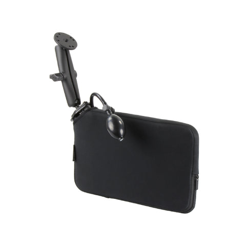 RAM-B-407-C-202-PUMPU RAM Tough-Wedge Mount with Round Plate & Expansion Pouch-Image-1