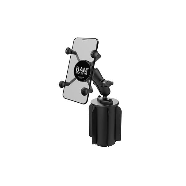 RAM® X-Grip® Phone Mount with RAM-A-CAN™ II Cup Holder Base (RAP-299-3-UN7BU)