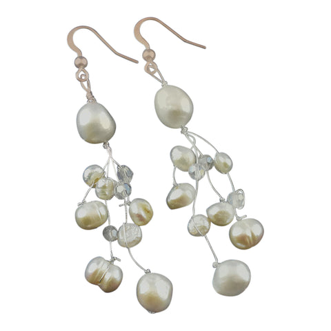 Freshwater Pearl Tassel Earrings