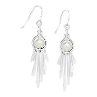 Freshwater Pearl Sterling Fringe earrings