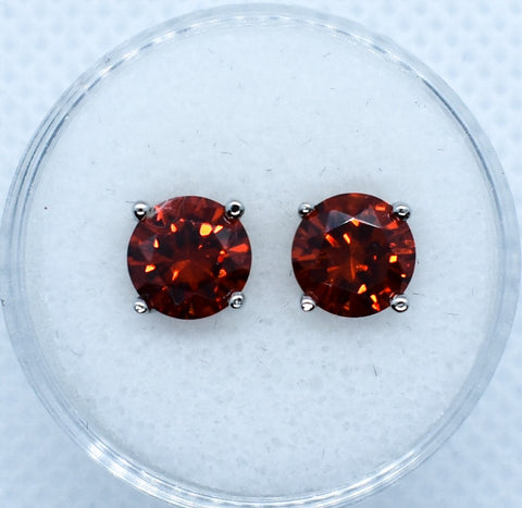 Birthstone Studs Sterling Silver and Cubic Zirconia