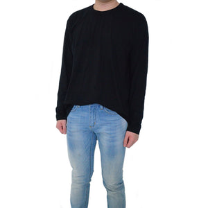 Classic / Long Tee - Soft Black Long-Sleeved Tee - Chimaek Collective