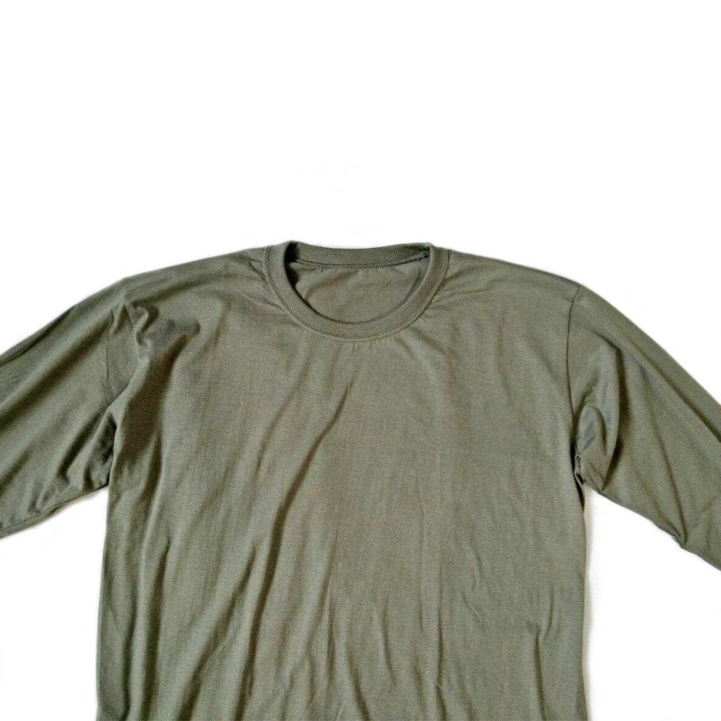 Classic / Long Tee - Olive Green Long-Sleeved Tee - Chimaek Collective