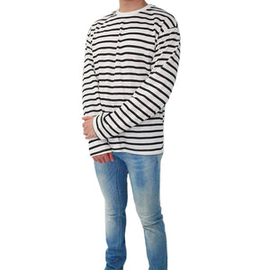 Striped / Classic - Charcoal Black Long-Sleeved Tee - Chimaek Collective