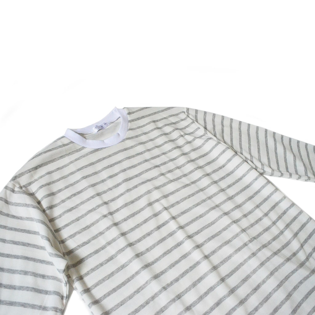Striped / Classic - Light Grey Long-Sleeved Tee - Chimaek Collective