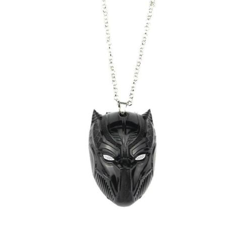 2018 Black Panther Mask Pendant Necklace