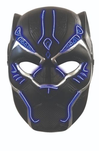 Black Panther Kids Deluxe Battle Light up Vinyl Mask Costume Accessory
