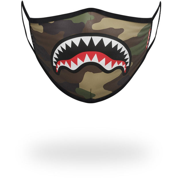 CAMO SHARKMOUTH FORM-FITTING MASK