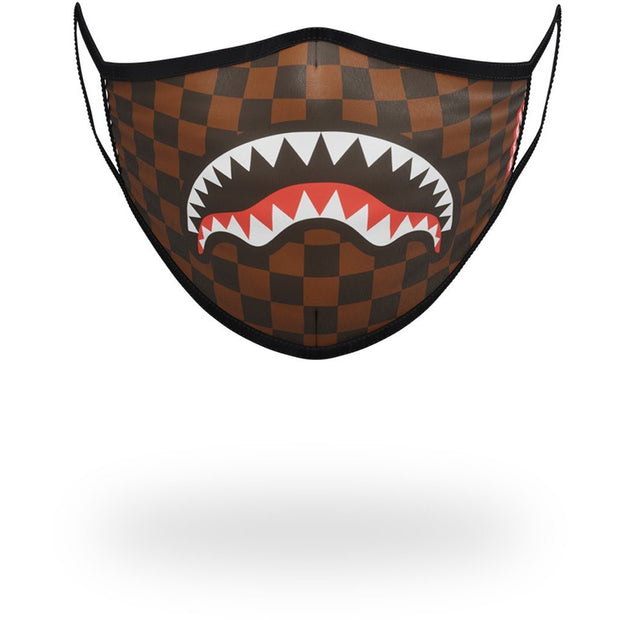 SHARKS IN PARIS (BROWN) FORM-FITTING MASK