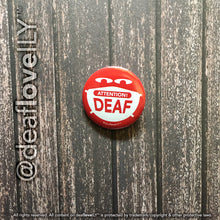 "*NEW* deafloveILY Buttons (1.25"") : 18 Options!"