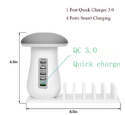 Multi-Port Fast Charging Dock & Lamp (5 PORTS)