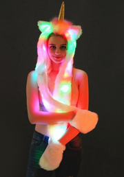 LED Faux Fur Hat & Scarf