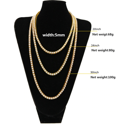 Iced Out Men's Luxury Chain Necklaces (4 COLORS)