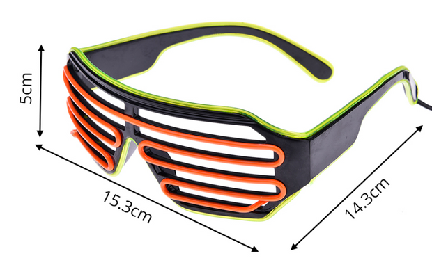 LED Two-Color Party Sunglasses
