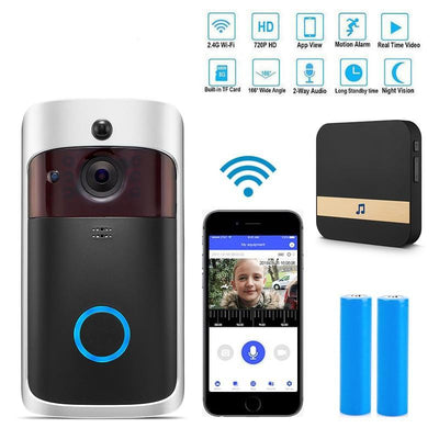 Wireless Video Camera DoorBell (Mobile Phone & WiFi Connectivity)