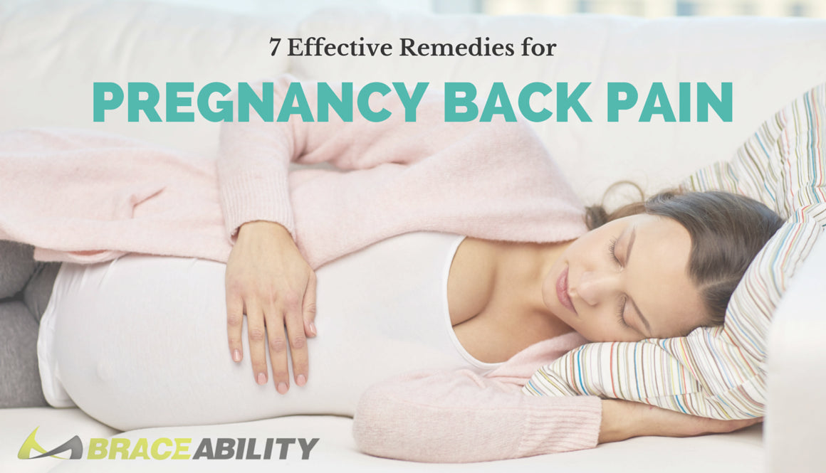 7 Remedies For Pregnancy Back Pain Maternity Supports Exercises