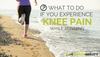 If you experience knee pain while running, stop running and ice and elevate