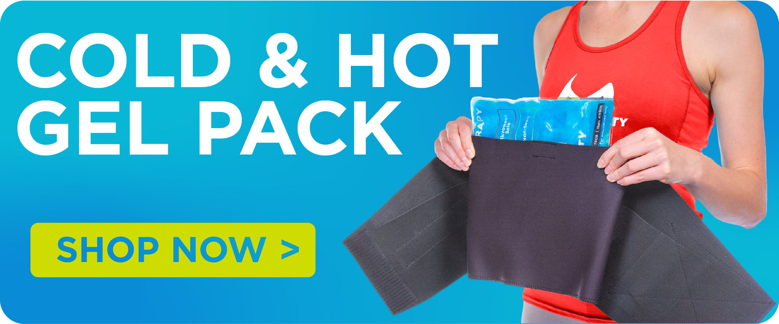 purchase a cold and got gel pack for your lower back brace
