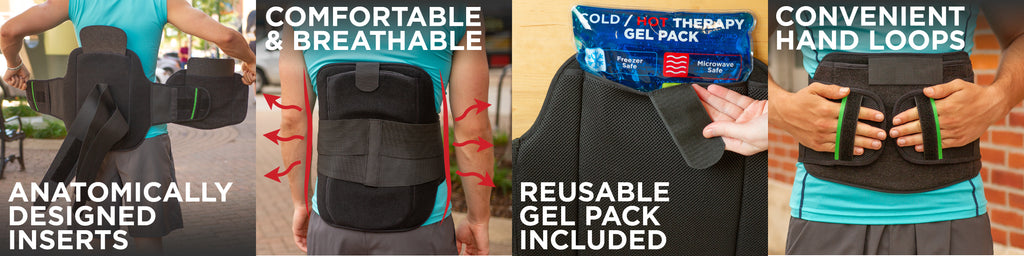 braceability offers an lso back brace with the best features like a reusable gel pack