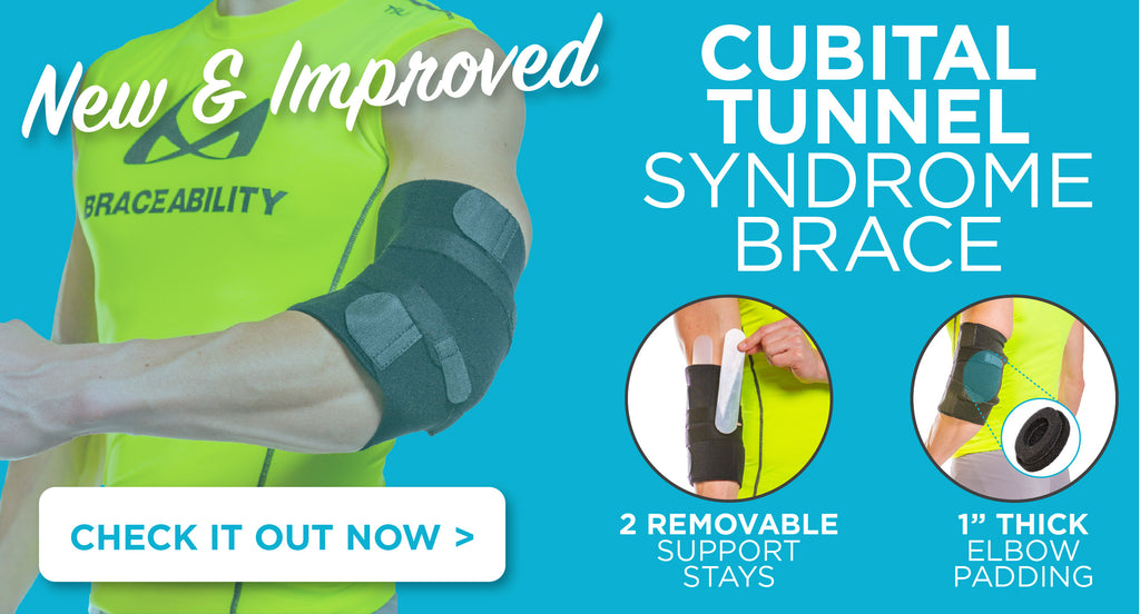 shop our new and improved cubital tunnel syndrome brace featuring removable stays and elbow padding