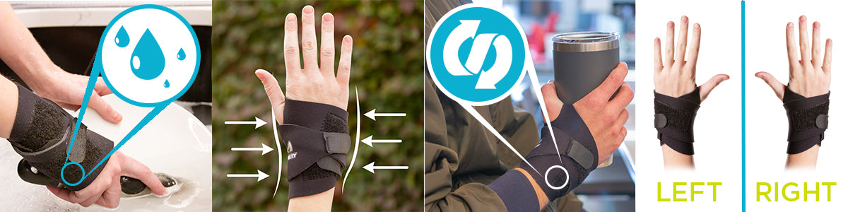 the wrist wrap for arthritis is waterproof and applies comfortable compression