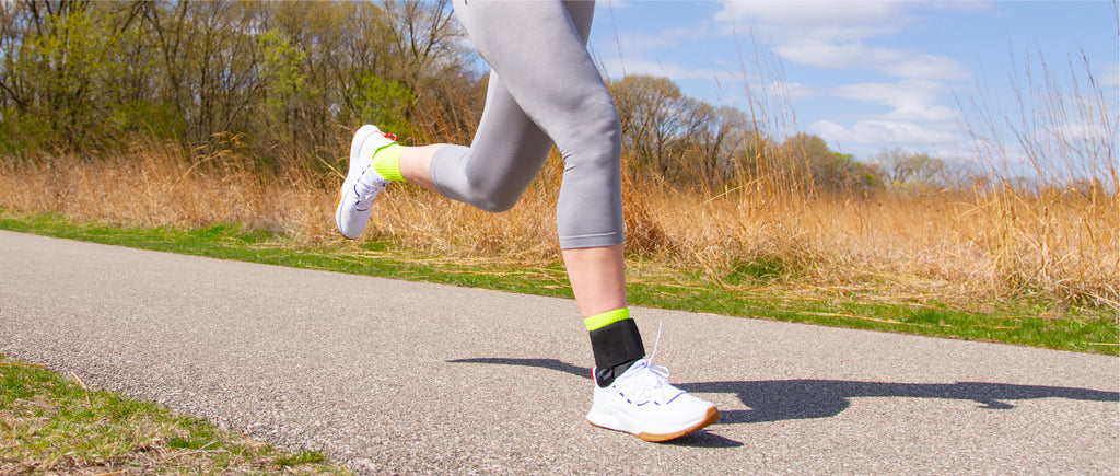 lace-up ankle brace to help prevent ankle sprains, strains, or general instability