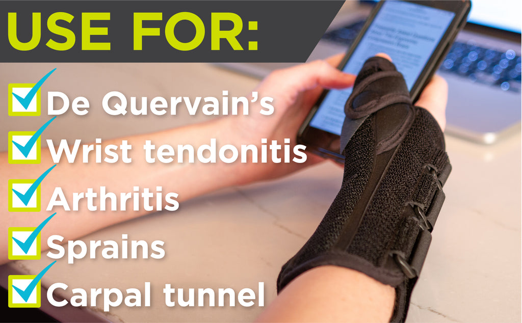 thumb and wrist splint for de quervains, tendonitis, and arthritis