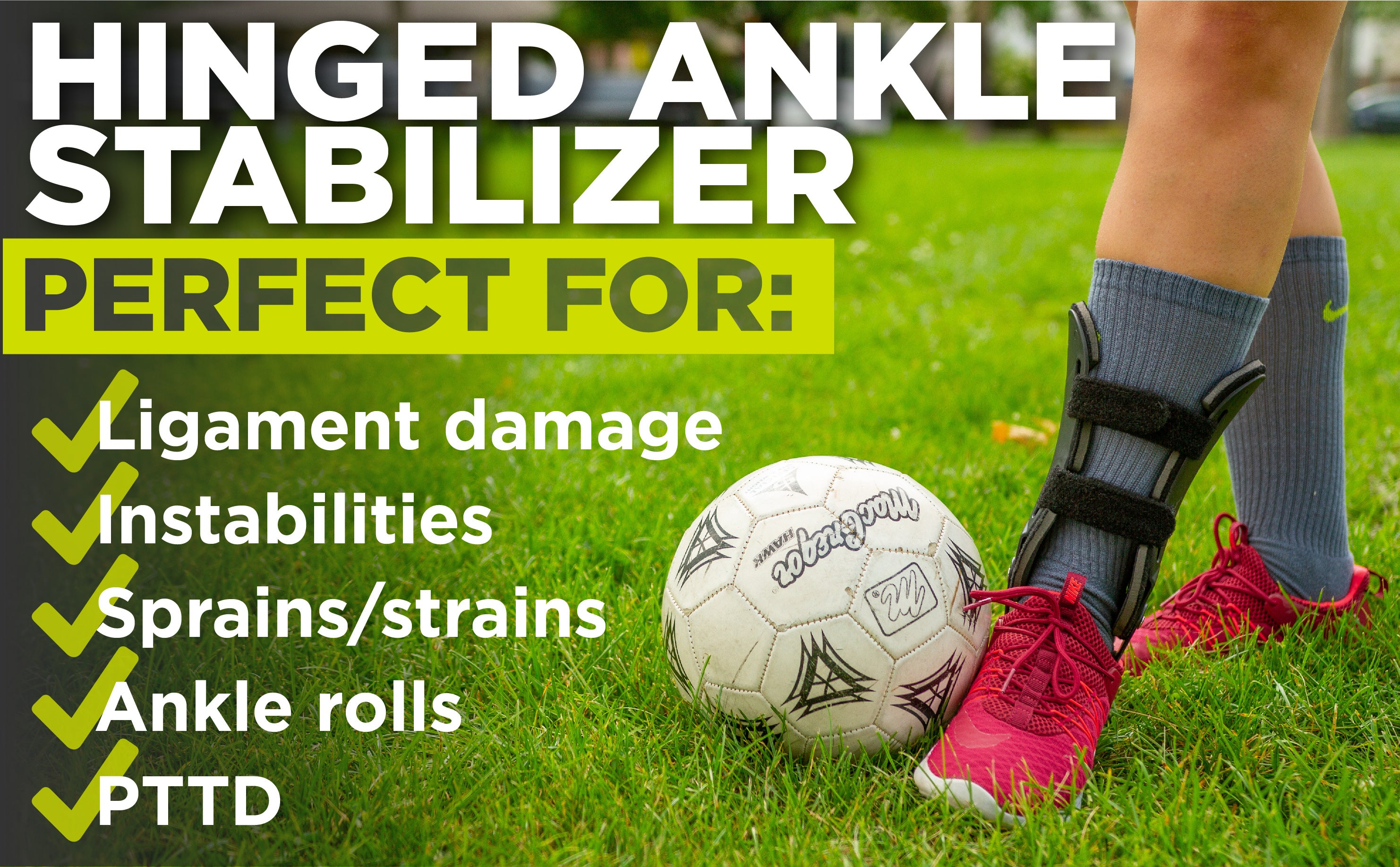 our hinged ankle stabilizer is perfect for ligament damage, instabilities, sprains, and strains