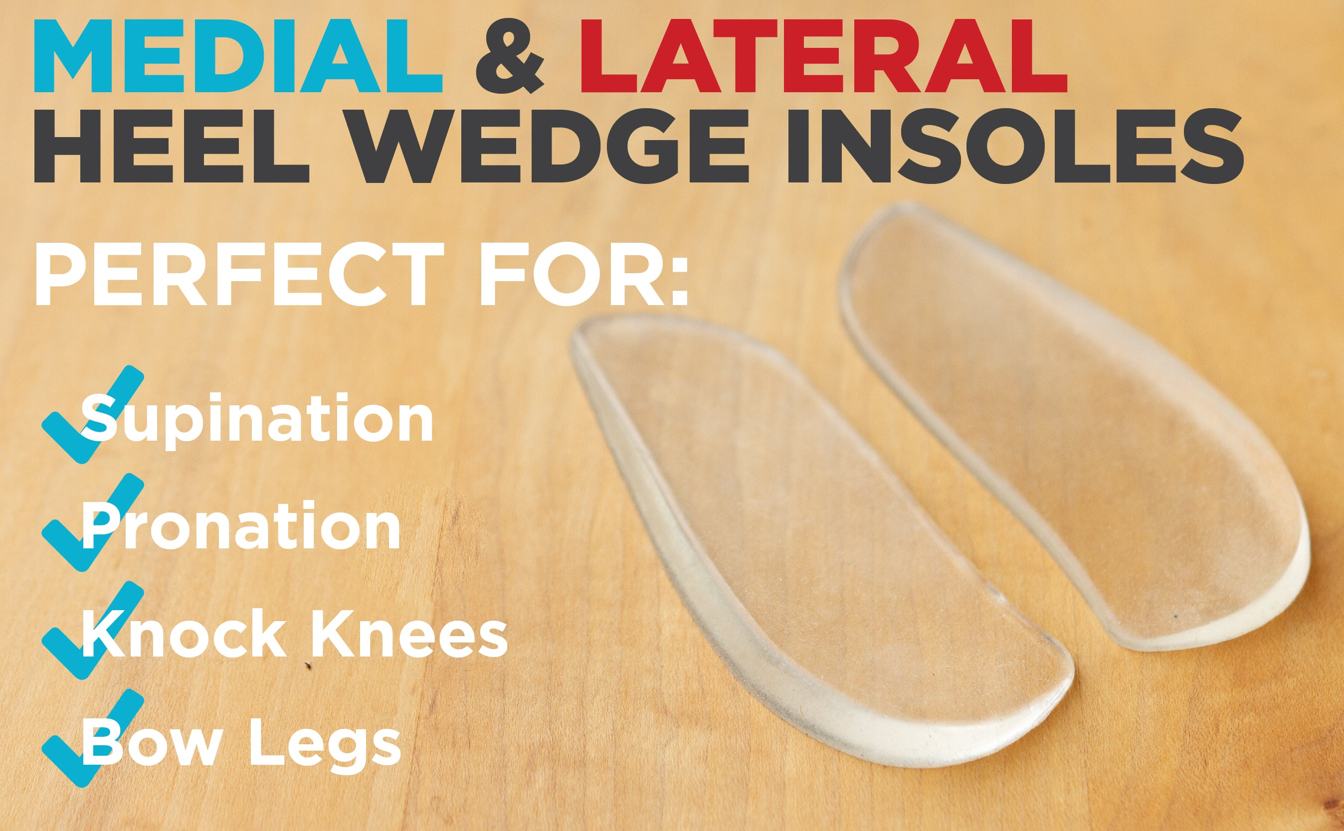 braceability medial and lateral shoe inserts are perfect for correcting supination and pronation