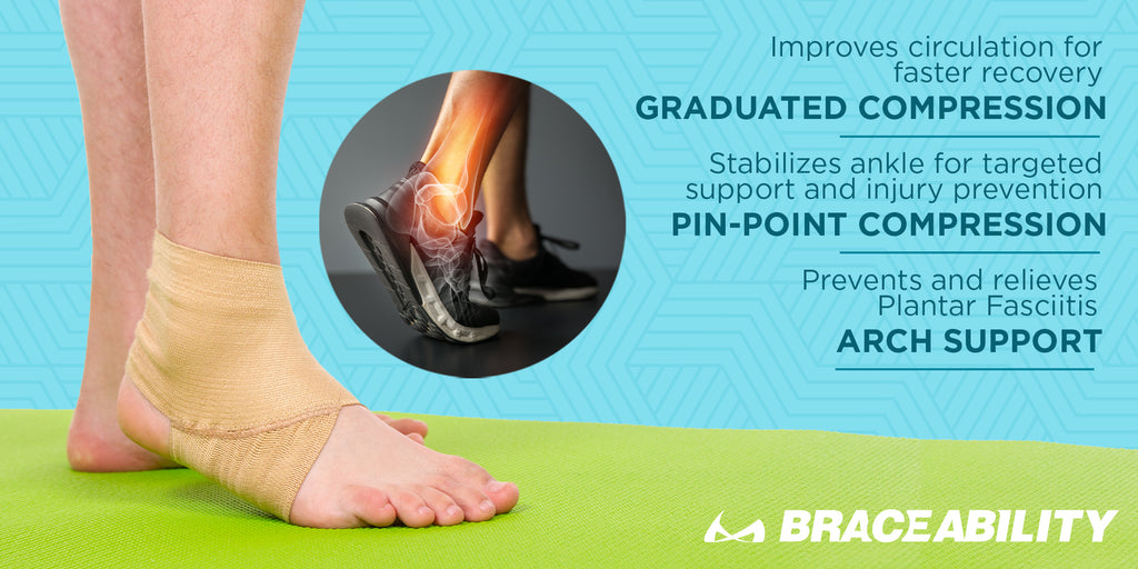 the elastic ankle sleeve applies target compression to the arch are you foot for pain relief from plantar fasciitis