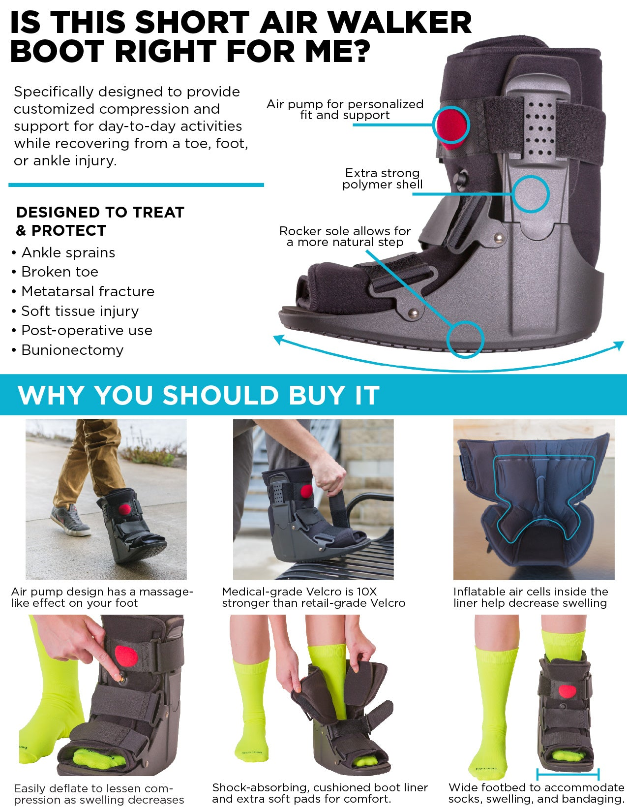 features that make this the best non-air walker boot